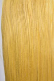 Long golden blond hair stock images