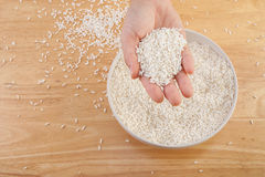 Long grain rice in a bowl Royalty Free Stock Photos