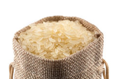 Long grain rice on white background Stock Images