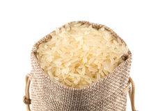 Long grain rice on white background Stock Image