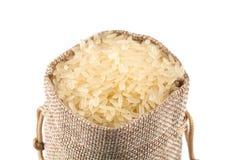 Long grain rice on white background Stock Image