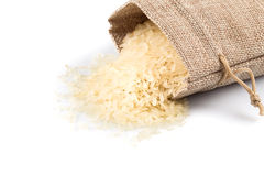 Long grain rice on white background Stock Photography