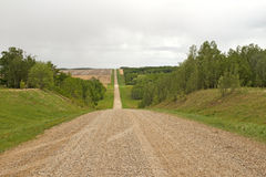 Long gravel road lined by trees Stock Photography