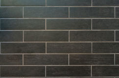 Long Gray Tiles avec le coulis blanc Photos stock