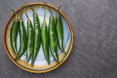 Long green peppers Royalty Free Stock Photos