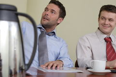 Long group working hours stock photography