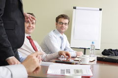 Long group working hours Stock Image