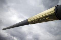 Long gun aboard naval vessel Stock Image