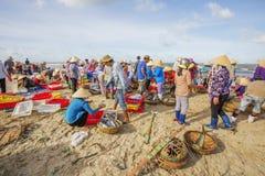 Long Hai fish market on the beach Royalty Free Stock Photos