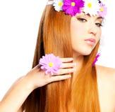 Long hair. Beautiful woman with long hair Stock Image