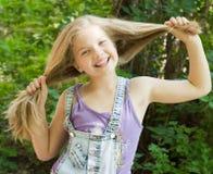 Long hair Stock Image