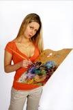 Long hair artist stock image