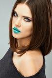Long hair. Beautiful woman. Young teenager model Royalty Free Stock Photos