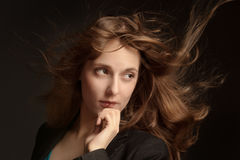 Long hair beautybul model Royalty Free Stock Images