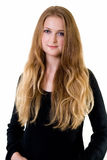 Long hair blond Stock Images