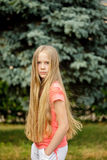 Long-hair blonde girl Stock Photography