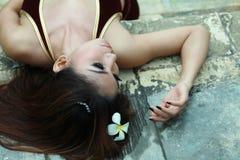 Long hair brunette Royalty Free Stock Image