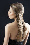 Long hair and fashion hairstyle, Royalty Free Stock Photos