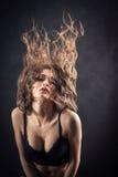 Long Hair Flying Stock Image