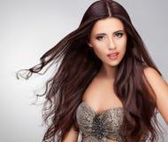 Long Hair. Good quality retouching Royalty Free Stock Photo