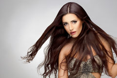 Long Hair. Good quality retouching Royalty Free Stock Photography