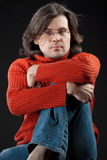 Long hair man Stock Image