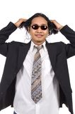 Long Hair Man Wearing Suit Royalty Free Stock Photo