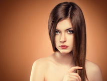 Long hair model Stock Photography