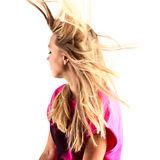 Long hair in motion. Beautiful long hair in motion created by wind Stock Image