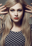Long hair, Portrait of a beautiful blonde. toning