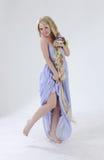 Long hair princess dancing Royalty Free Stock Photography