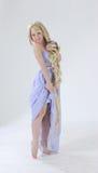 Long hair princess dancing Royalty Free Stock Image