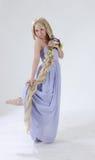 Long hair princess dancing Stock Photography