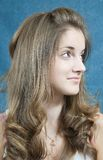 Long hair teen Stock Photography