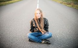 Long hair teen Royalty Free Stock Image