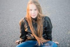 Long hair teen Royalty Free Stock Photography