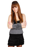 Long hair teenage girl posing Royalty Free Stock Photography