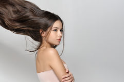 Long hair thrown up Stock Photography