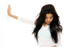 Long hair woman Stock Photo