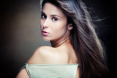 Long hair woman portrait Royalty Free Stock Images