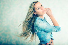 Long hair Royalty Free Stock Images