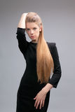 Long haired beautiful woman Royalty Free Stock Photo