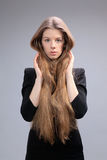 Long haired beautiful woman Royalty Free Stock Photography