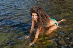 Long haired bikini girl Royalty Free Stock Image