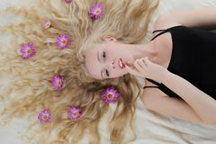 Long-haired blonde Stock Photos