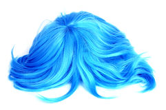 Long-haired blue wig Royalty Free Stock Photography