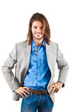 Long haired businessman Stock Images
