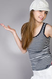 Long-haired girl Stock Images