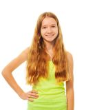 Long haired girl Royalty Free Stock Images