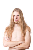 Long-haired male Stock Image